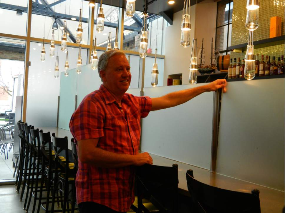 |  Courtesy Current Fish and Oyster  Co-owner Joel LaSalle, wants Current Fish and Oyster to be one of the first Utah restaurants to tear out its Zion Curtain. It's an option beginning July 1, 2017 thanks to a new alcohol reform bill passed by the Utah Legislature.