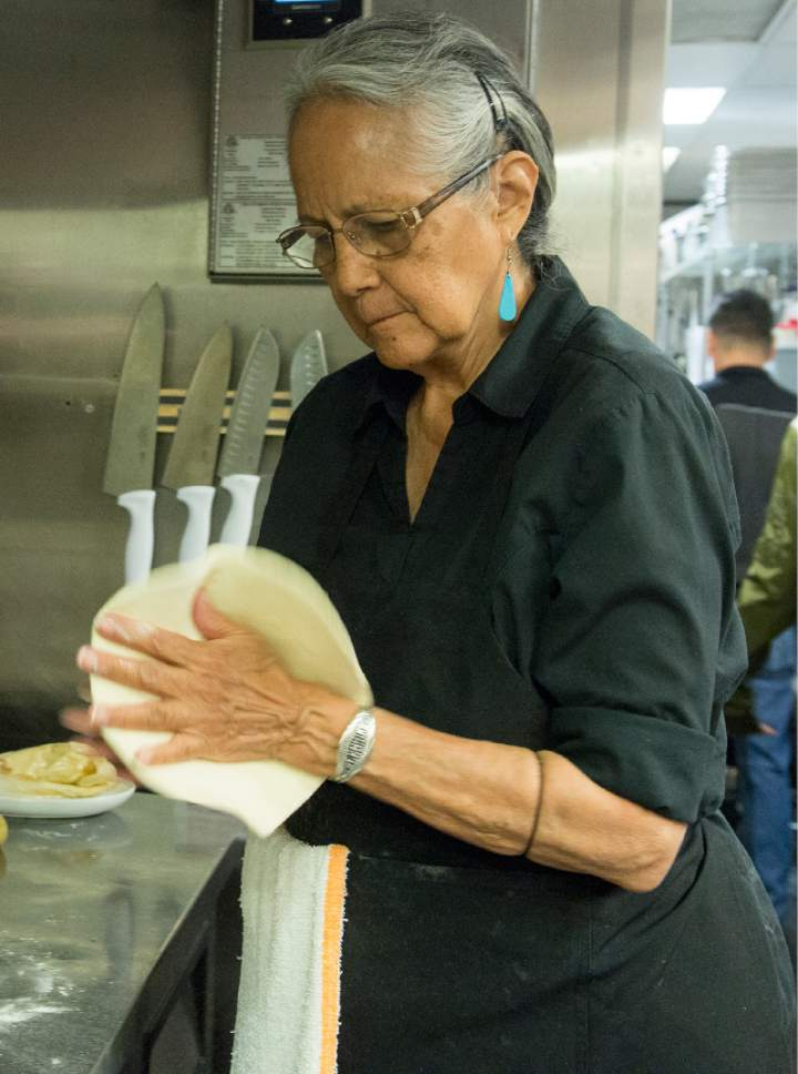 Leah Hogsten  |  The Salt Lake Tribune  Traditional Navajo fry read with lavender is made by Alberta Mason, 76, mother of Black Sheep Sugar House owner, Bleu Adams. Black Sheep at Epic Brewing in Salt Lake City dishes up creative and flavorful American Indian and Southwestern cuisine alongside Epic Brewing beers at this trendy, new Sugar House location once home to The Annex.