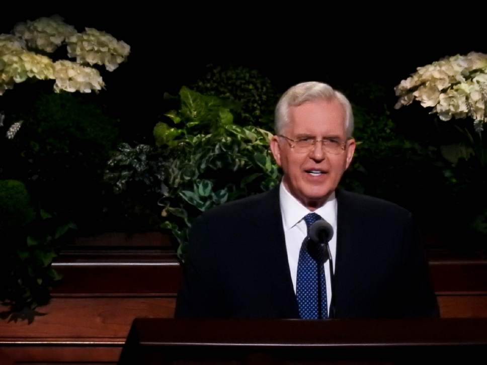 Trent Nelson  |  The Salt Lake Tribune Elder D. Todd Christofferson speaks during the afternoon session of the 187th Annual General Conference at the Conference Center in Salt Lake City, Sunday April 2, 2017.