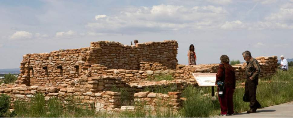 Al Hartmann  |  The Salt Lake Tribune Visitors tour Edge of the Cedars State Park Museum on the west edge of Blanding. Many tourists are surprised that the southern Utah town bans alcohol sales.