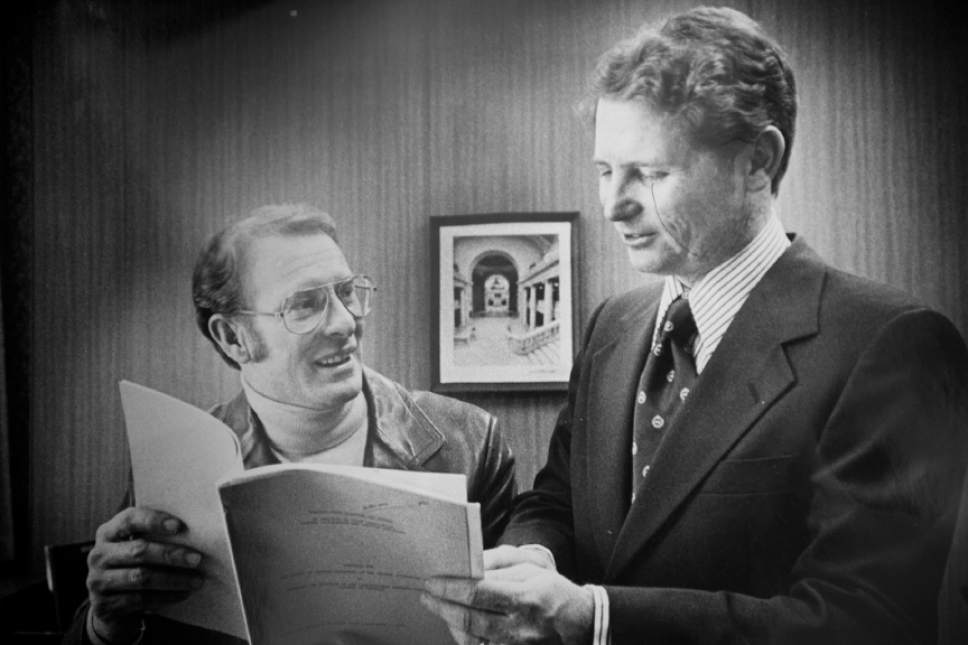 """Tribune file photo  Miles """"Cap"""" Ferry, seen here with Fred Finlinson in a photo from 1978."""