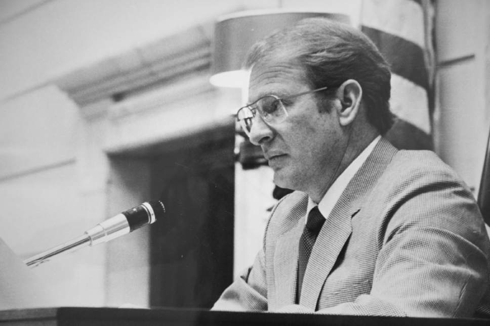 """Tribune file photo  Miles """"Cap"""" Ferry, seen here when he was the Senate President in 1983."""
