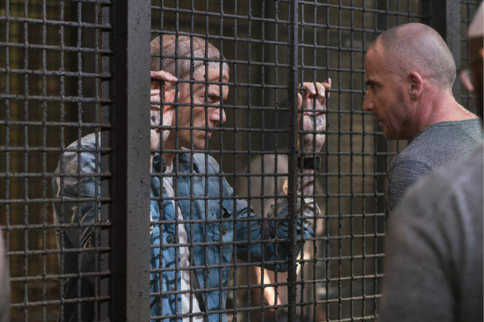 """Wentworth Miller and Dominic Purcell in the all-new ìOgygiaî event series premiere episode of """"Prison Break."""" Courtesy Fox"""