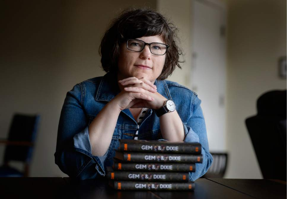 Scott Sommerdorf | The Salt Lake Tribune Utah author Sara Zarr in her Salt Lake City home, Wednesday, March 22 2017. Zar is about to release her seventh book -- her first in almost four years. Zarr is a nationally recognized author of realistic fiction who was a National Book Award finalist.