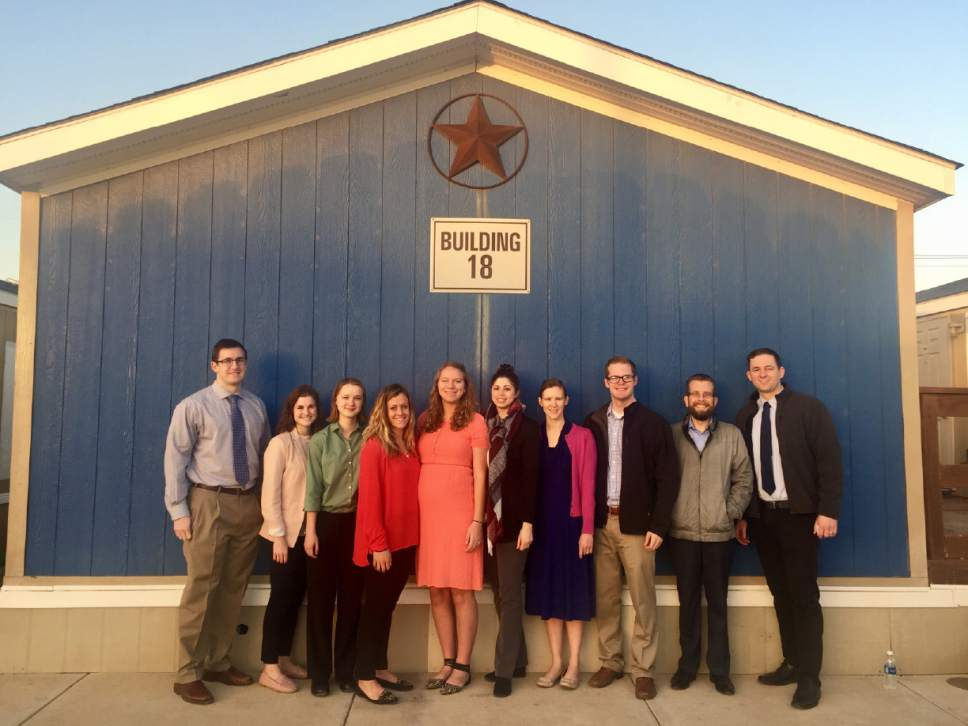 "|  courtesy of Carolina NuÒez  A group of BYU law students participated in a ""life-changing"" five-day externship in Dilley, Texas, at the South Texas Family Detention Center in February. Photos were not permitted at the facility, where they worked with immigrant mothers and children who came to the U.S. illegally but hope to be granted asylum due to threats and violence in their countries of origin."