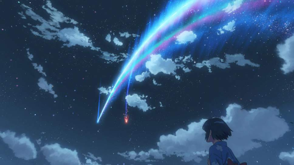 """The arrival of a comet changes the lives of two teens -- a city boy and a rural girl -- in the anime romantic drama """"Your Name."""" Courtesy Funimation Entertainment"""