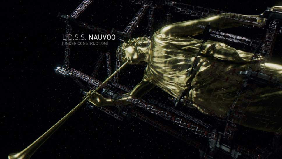 "The giant spaceship Nauvoo was built for the Mormons on the science-fiction series ""The Expanse."" Credit: Courtesy Syfy"