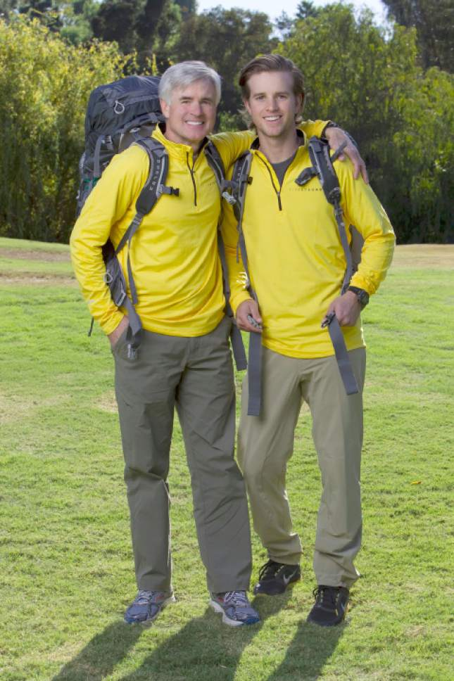 "Courtesy photo Utah father and son David (left) and Connor O'Leary compete on ""The Amazing Race."""