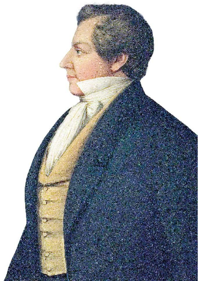 Danquardt Weggeland portrait of Joseph Smith.