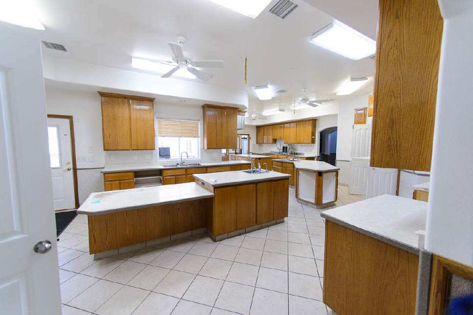 Trent Nelson  |  The Salt Lake Tribune A commercial kitchen at the former home of Warren Jeffs in Hildale, Wednesday April 5, 2017.