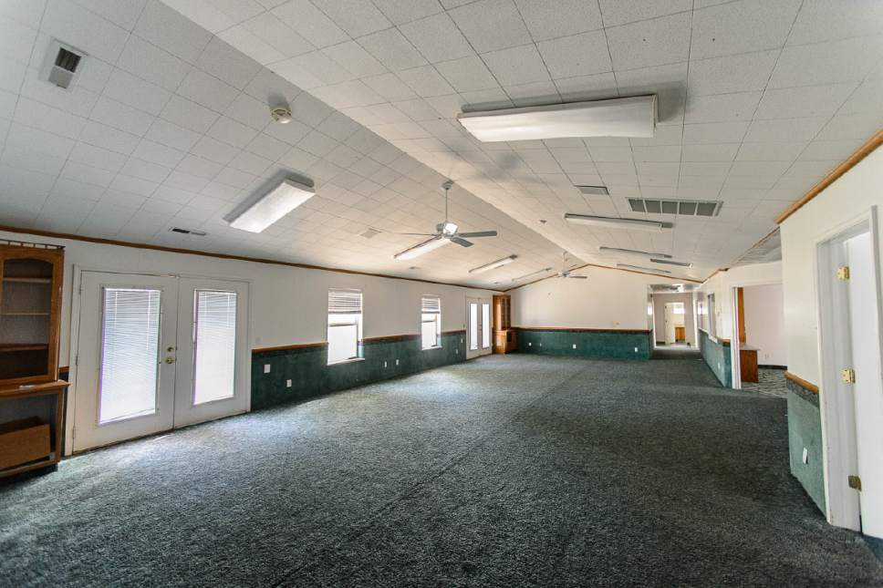 Trent Nelson  |  The Salt Lake Tribune A large gathering room at the former home of Warren Jeffs in Hildale, Wednesday April 5, 2017.