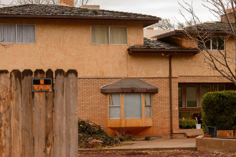 Trent Nelson  |  The Salt Lake Tribune A Hildale home, part of the United Effort Trust that Lorin Cooke is hoping to move his family into, Saturday February 11, 2017.