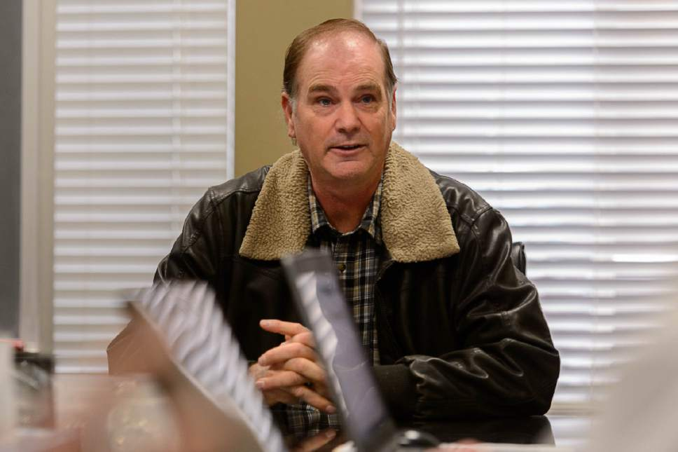 Trent Nelson  |  The Salt Lake Tribune Lorin Cooke meets with the United Effort Trust (UEP) board in hopes of moving his family into a UEP home in Hildale, Saturday February 11, 2017.