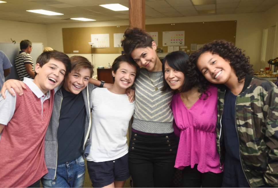 "Joshua Rush, Asher Angel, Peyton Elizabeth Lee, Lilan Bowden, Lauren Tom and Sofia Wylie star in ""Andi Mack,"" which was filmed in Utah. Fred Hayes  