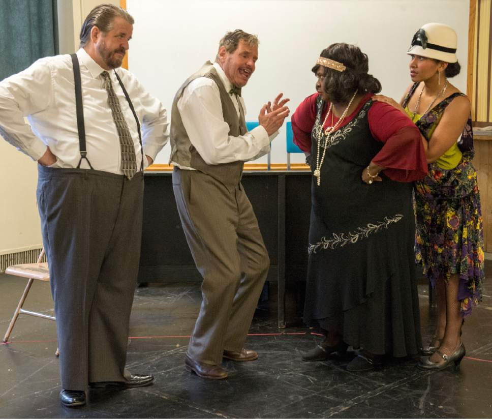 "Rick Egan  |  The Salt Lake Tribune  Hugh Hanson, Terence Johnson, Robin Smith, and Trinidad Allred, in ""Ma Rainey's Black Bottom,"" an August Wilson play set in 1927. Monday, April 3, 2017."