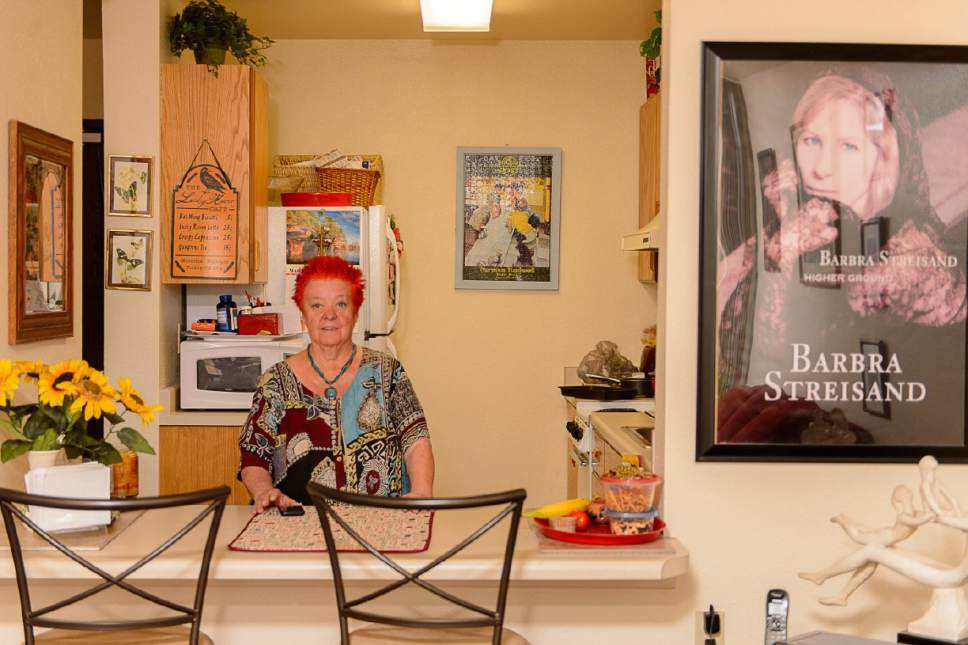 Trent Nelson  |  The Salt Lake Tribune Rose Carrier tended bar at Salt Lake City's Radio City Lounge, the oldest gay bar in Utah, for 25 years starting in 1960. She was photographed in her home, Friday March 31, 2017.