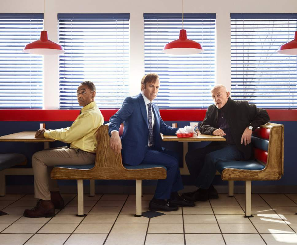 """Giancarlo Esposito as Gustavo """"Gus"""" Fring, Bob Odenkirk as Jimmy McGill and Jonathan Banks as Mike Ehrmantraut in ìBetter Call Saul.î Robert Trachtenberg  