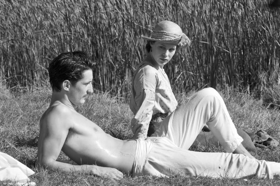 "Adrien (Pierre Niney, left) and Anna (Paula Beer) share a connection - a man killed in World War I - in François Ozon's drama ""Frantz."" Jean-Claude Moireau  