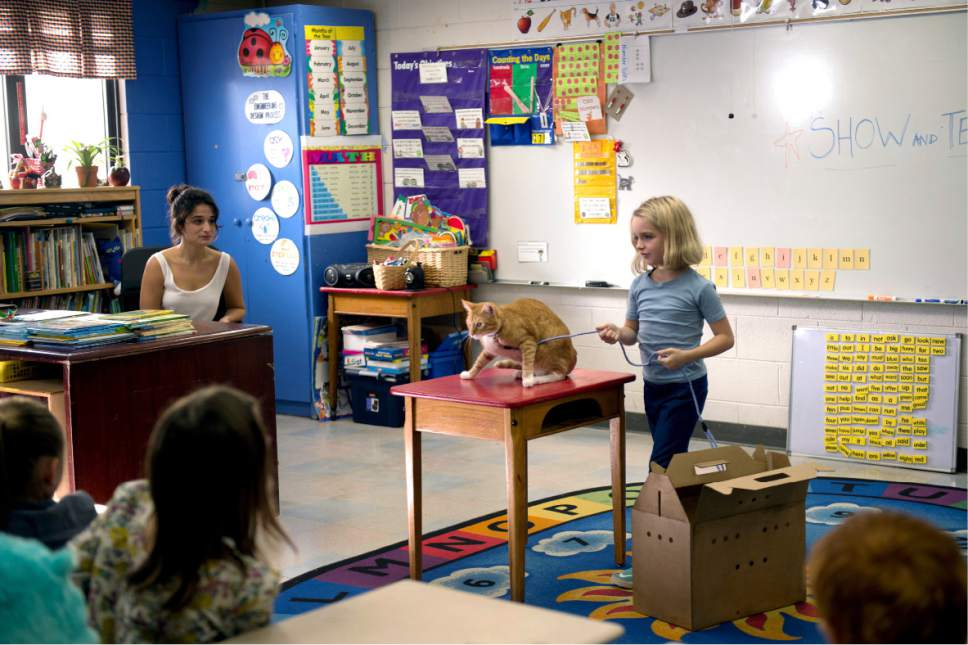 """In this image released by Fox Searchlight Pictures, Jennie Slate, left, and McKenna Grace appear in a scene from, """"Gifted."""" (Wilson Webb/Fox Searchlight Pictures via AP)"""