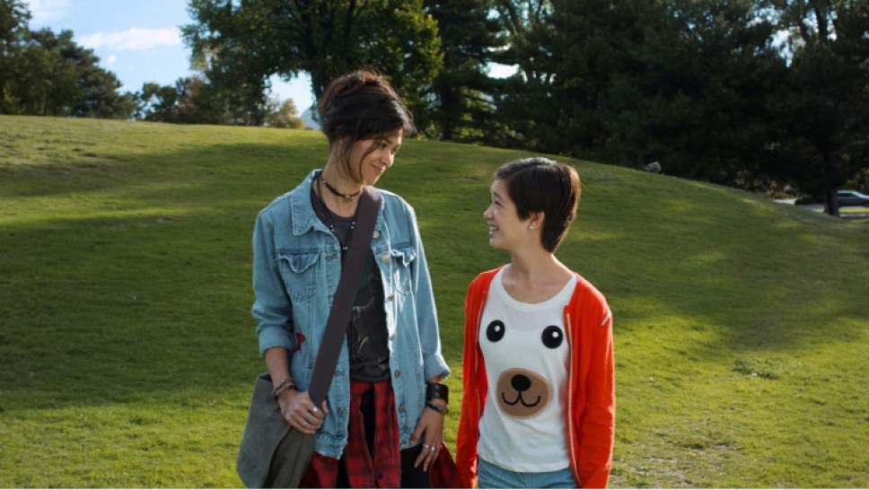 """Peyton Elizabeth Lee and Lilan Bowden -- pictured here in Liberty Park -- co-star in the new Disney Channel series """"Andi Mack."""" Courtesy Disney Channel"""