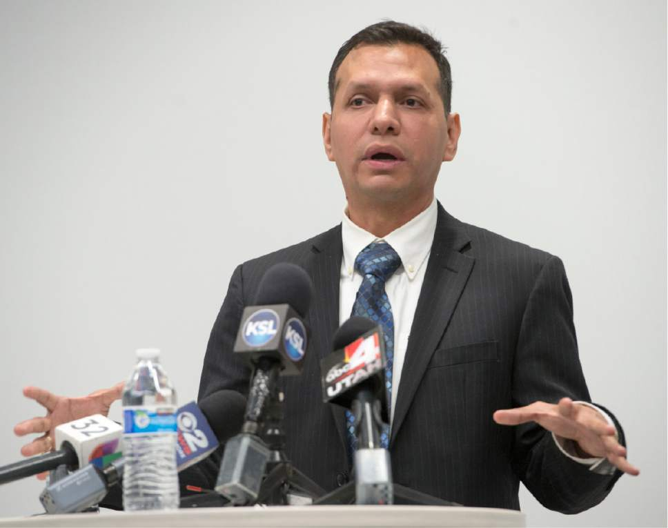 Rick Egan     The Salt Lake Tribune  Rosemberg Salgado and asks the public for help locating his niece, Elizabeth Elena Laguna-Salgado, during a news conference.  Laguna-Salgado seemingly vanished without a trace while walking home from school in Provo two years ago, Friday, April 14, 2017.
