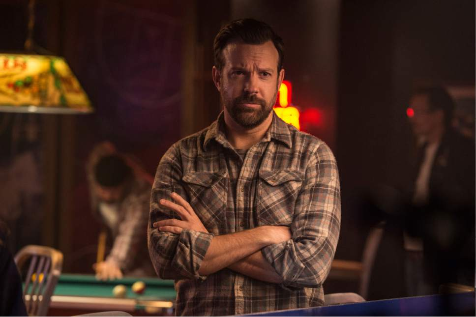 """In this image released by Neon, Jason Sudeikis appears in a scene from, """"Colossal."""" (Cate Cameron/Neon via AP)"""