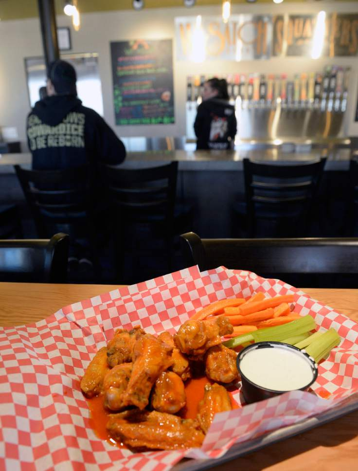 Al Hartmann  |  The Salt Lake Tribune Squatters Legendary Buffalo Wings at the West Side Tavern, a new bar that has opened as part of the Wasatch/Squatters Beer Store at 1763 W. 300 South in Salt Lake City.