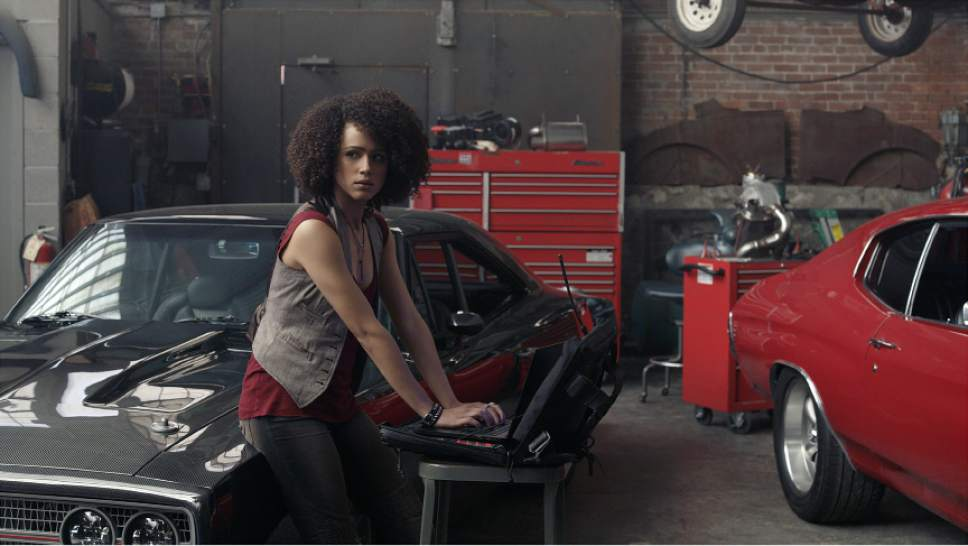 """This image released by Universal Pictures shows Nathalie Emmanuel in """"The Fate of the Furious."""" (Universal Pictures via AP)"""