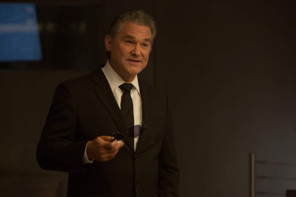 """This image released by Universal Pictures shows Kurt Russell in """"The Fate of the Furious."""" (Matt Kennedy/Universal Pictures via AP)"""