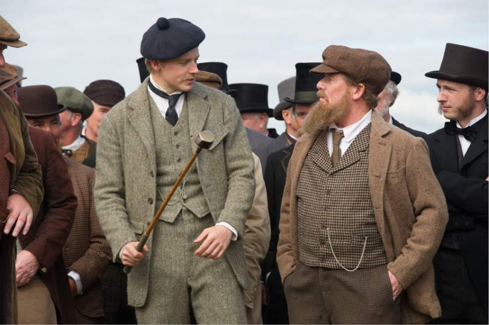 """Jack Lowden (left) and Peter Mullan play Tommy and Tom Morris, who revolutionized the game of golf in 19th century Scotland, in the biographical drama """"Tommy's Honour."""" Neil Davidson  