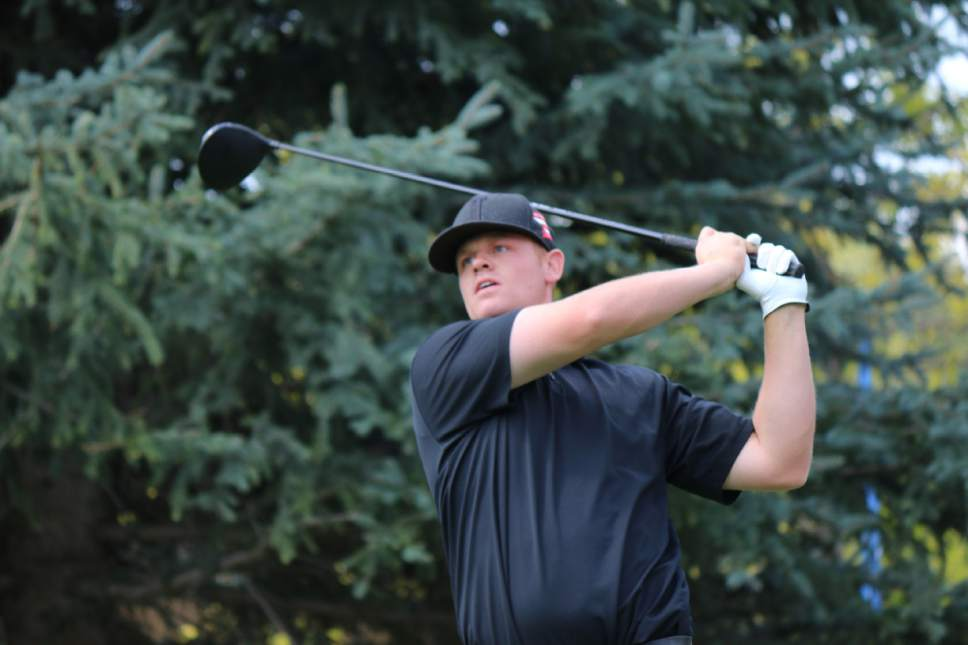 Mike Stansfield  |  Fairways Media  Patrick Fishburn (-10) 62, the Utah State Amateur champion, tied the Riverside Country Club course record on Friday August 26, 2016 during the opening round of the 90th Utah Open Championship.