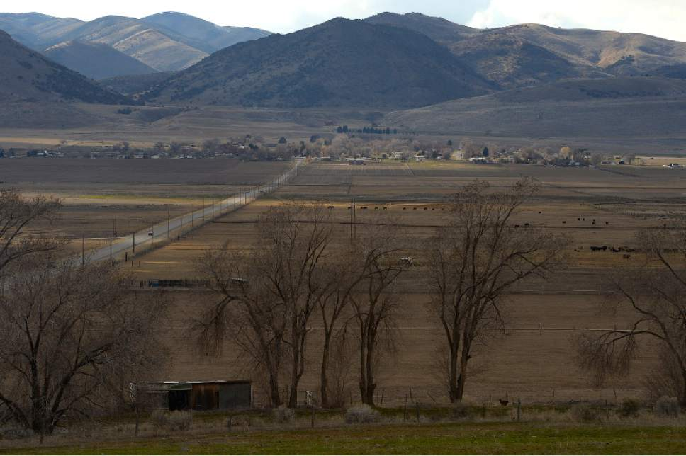 Leah Hogsten  |  Tribune file photo A site just south of the Idaho border  near Washakie, Utah, along the Malad River Valley,  a Bear River tributary, is one possible reservoir location in the long-planned Bear River Development Project.