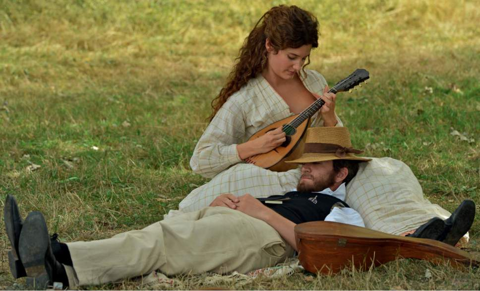"""The writer Emile Zola (Guillaume Canet) relaxes with his wife Alexandrine, in a moment from the biographical drama """"Cezanne and I."""" Courtesy Magnolia Pictures"""