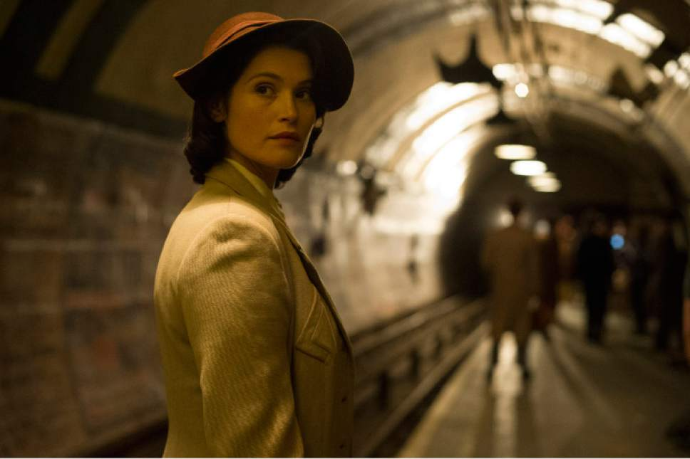 "Gemma Arterton plays Catrin Cole, a fledgling screenwriter assigned to write uplifting propaganda films for the British war effort during World War II, in the romantic comedy-drama ""Their Finest."" Nicola Dove  