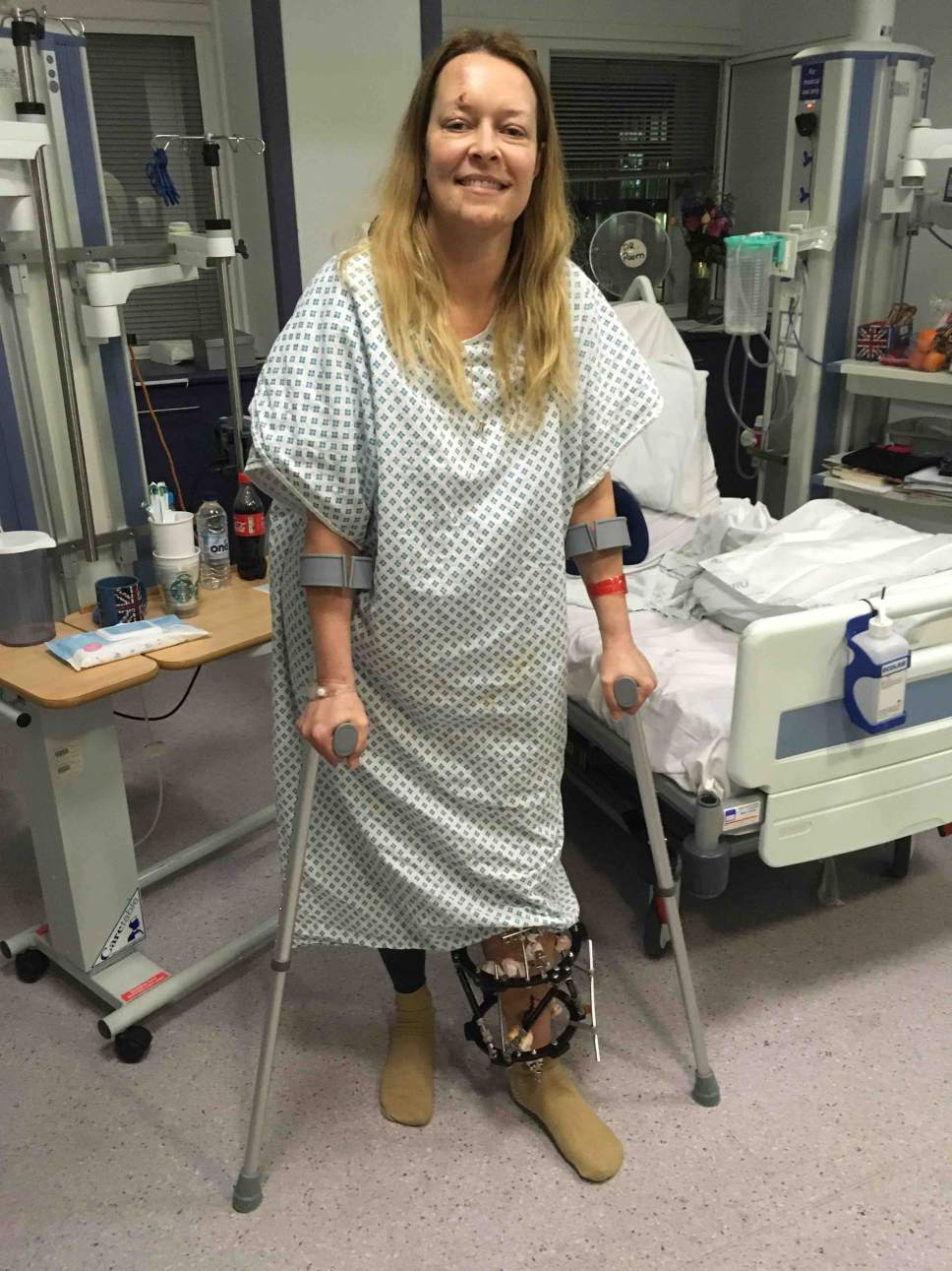 Courtesy photo Melissa Payne Cochran recovers from injuries sustained in the London attack.