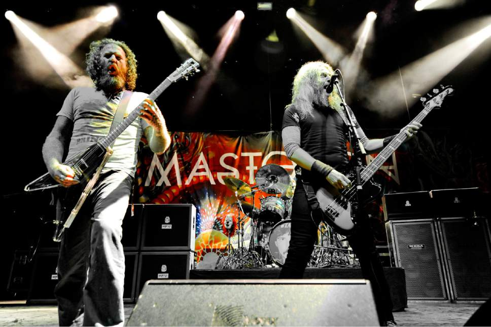 Mastodon performs at the Vina Robles Amphitheatre on Friday, Oct. 16, 2015 in Paso Robles, Calif. They will perform at The Complex in Salt Lake City on Sunday, April 23, 2017. (Photo by John Pyle/Invision/AP)