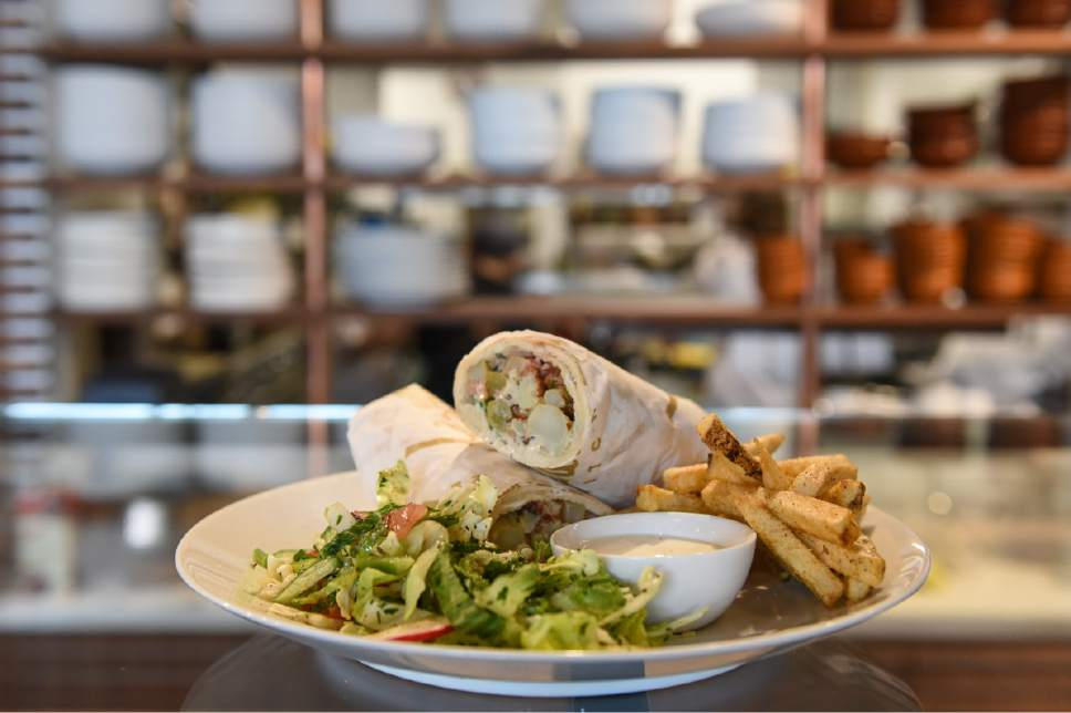 Francisco Kjolseth | The Salt Lake Tribune A fried cauliflower wrap is served up at Laziz Kitchen, a new Middle Eastern restaurant in Salt Lake City's Central Ninth District.