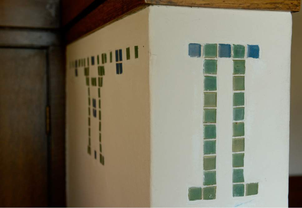 Leah Hogsten     The Salt Lake Tribune  Green and blue tiles in the foyer can also be found in the guest bedroom.  The B.B. Grey House, built in 1912, at 1430 E. Yale Ave., is one of seven in the Yalecrest neighborhood that will be featured Saturday, April 22, during Preservation Utah's 46th Annual Historic Home Tour.
