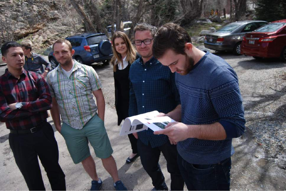 Brian Maffly  |  The Salt Lake Tribune University of Utah engineering students Brandon Quentin, Brian Naylor, Katherine Colburn, Quentin Allen and Jackson Barrett review maps while visiting the Mill B Trailhead at the S-Curves in Big Cottonwood Canyon. The students are part of a team that developed new proposals for managing traffic congestion and recreation facilities in the busy canyon.