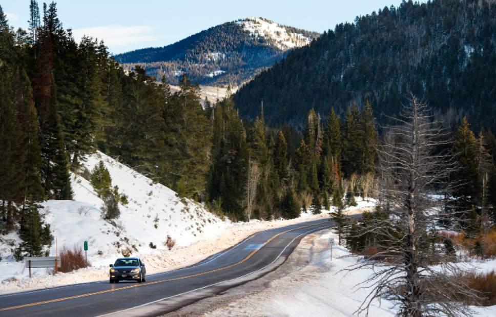 Steve Griffin / The Salt Lake Tribune   Big Cottonwood Canyon near Solitude in Salt Lake City Tuesday December 20, 2016.