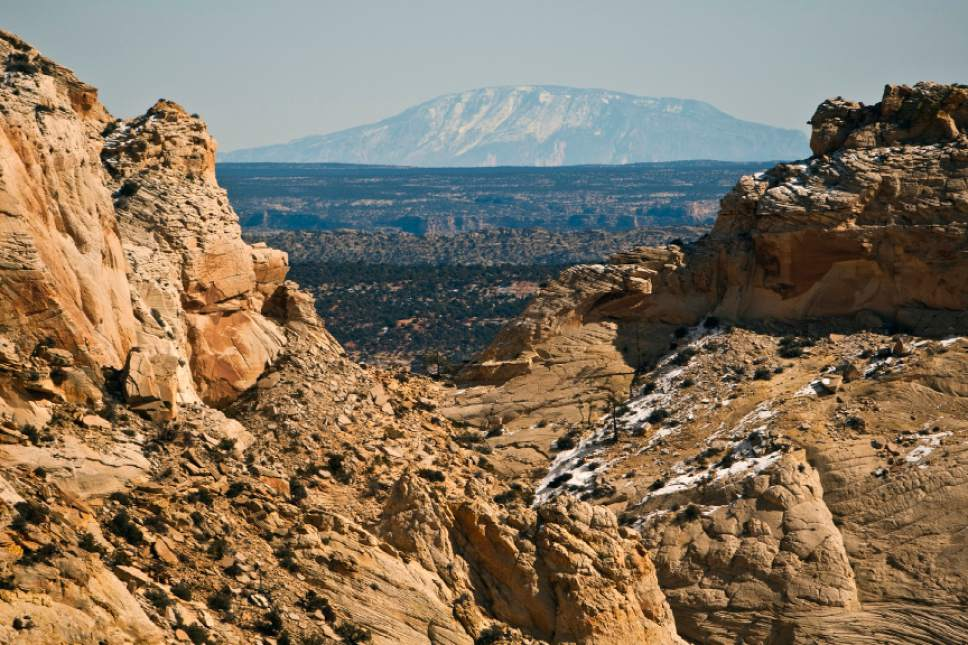Chris Detrick  |  The Salt Lake Tribune The view from Rock Springs Point along the west edge of the Grand Staircase-Escalante National Monument Saturday February 18, 2012.