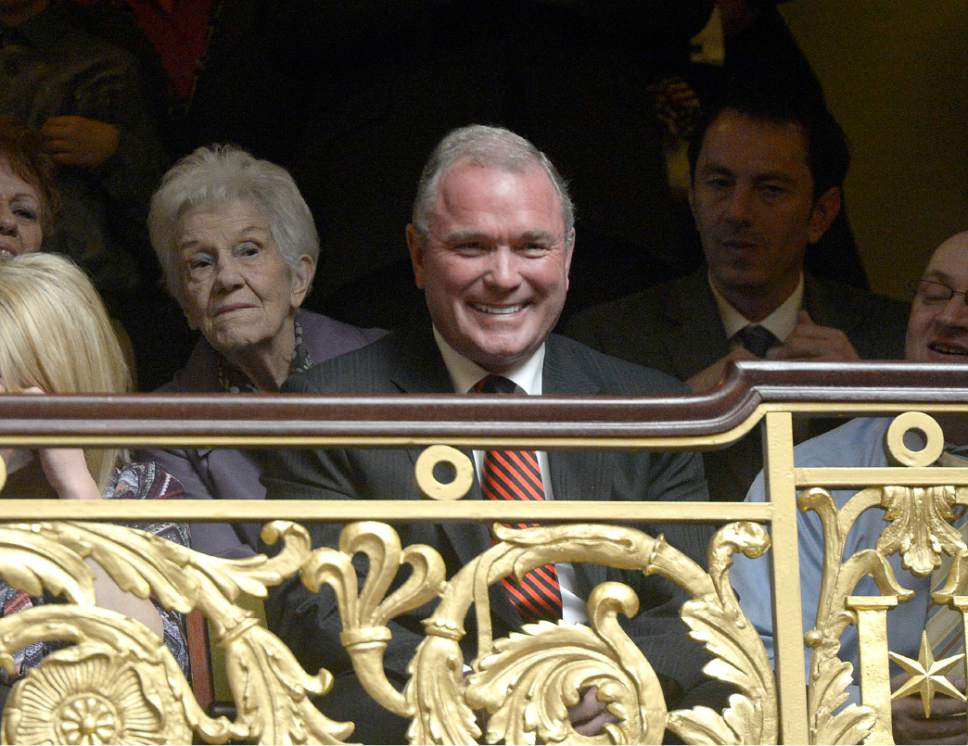 Al Hartmann  |  Tribune file photo Developer Terry Diehl smiles from a front row seat in the gallery in the Utah House of Representatives as Greg Hughes is sworn in as the Speaker of the House on the first day of the 2015 Legislature, Monday Jan. 26.