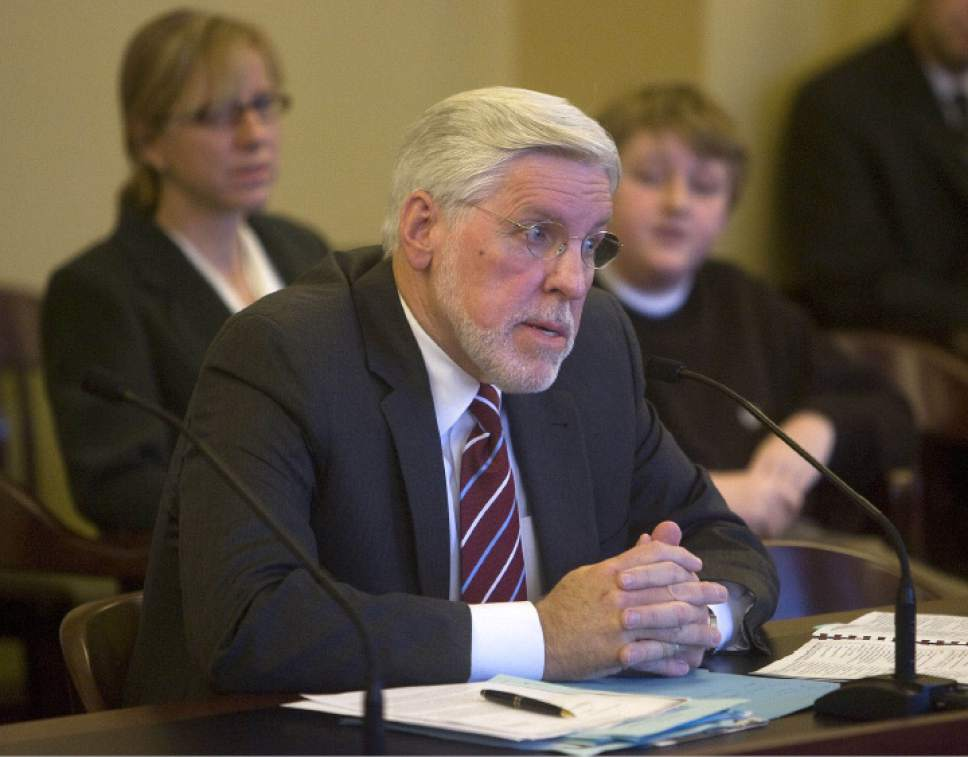 Al Hartmann     The Salt Lake Tribune  Judge Robert Hilder speaks to the Senate Judicial Confirmation Committee Wednesday November 12, 2008 at the Utah state Capitol.  He was up for confirmation for a Utah Court of Appeals position. He was confirmed 3-2 by the committee.