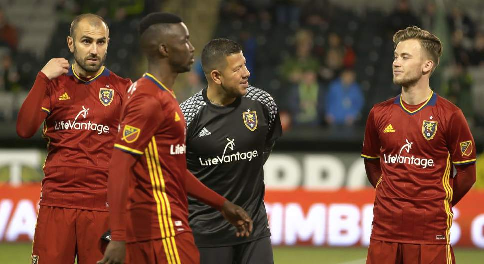 Tyler Gibbons  |  RSL  New RSL attacking midfielder Albert Rusnák pictured in Thursday night's 3-3 preseason draw against the Portland Timbers in Provdience Park.