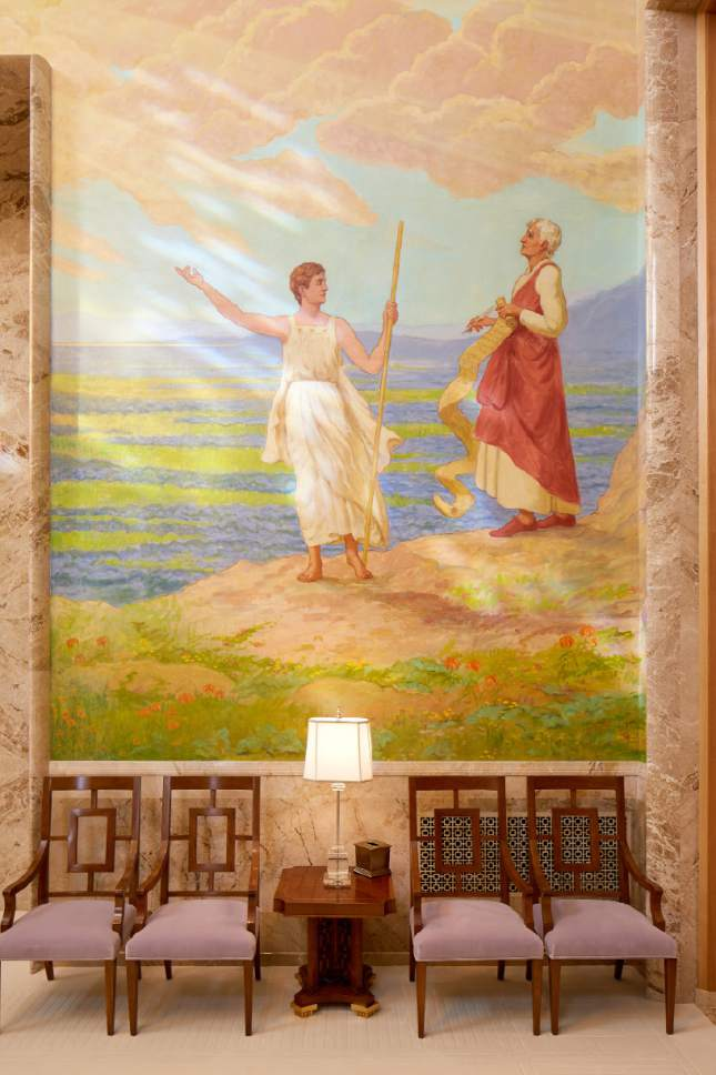 Photo courtesy LDS Church Mural in the celestial room of the Idaho Falls Idaho Temple.