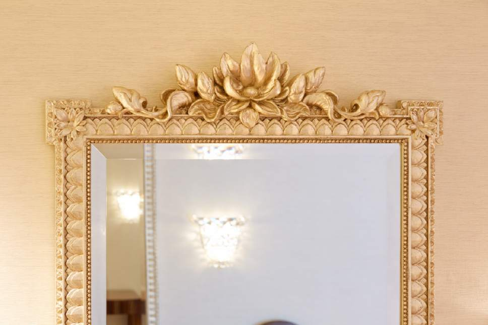 Photo courtesy LDS Church Detail on the mirrors in the bride's room of the Idaho Falls Idaho Temple.