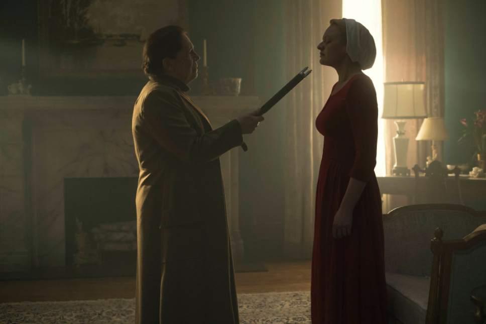 Ann Dowd and Elisabeth Moss star in ìThe Handmaid's Tale.î George Kraychyk  |  Courtesy of Hulu