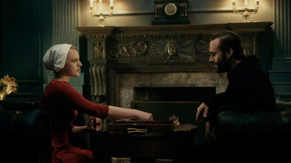 Elisabeth Moss and Joseph Fiennes star in ìThe Handmaid's Tale.î George Kraychyk  |  Courtesy of Hulu