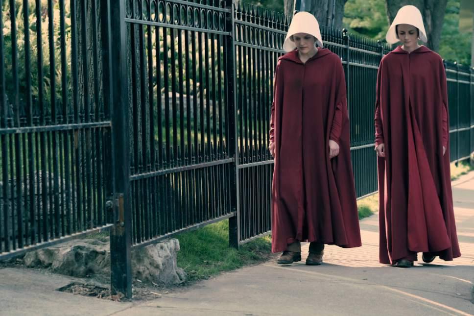 Elisabeth Moss and Alexis Bledel star in ìThe Handmaid's Tale.î George Kraychyk  |  Courtesy of Hulu