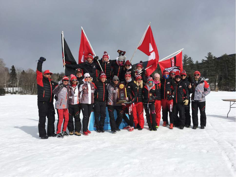 The University of Utah ski team won NCAA championship on Saturday, March 11, 2017. Courtesy Photo | Jason Clay/University of Colorado